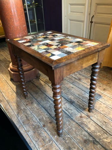 Furniture  - Italian table with specimen marble top