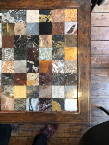 Italian table with specimen marble top - Restauration - Charles X