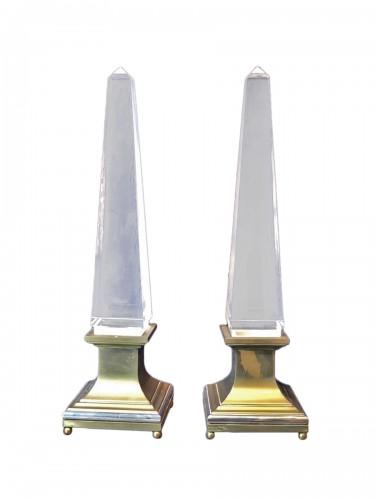 Pair of design obelisks Maison Jansen .