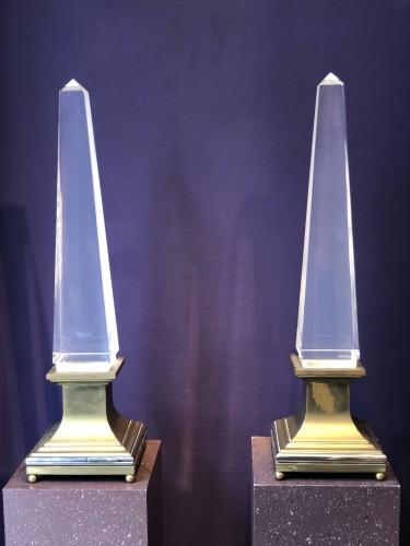 Pair of design obelisks Maison Jansen . - Decorative Objects Style