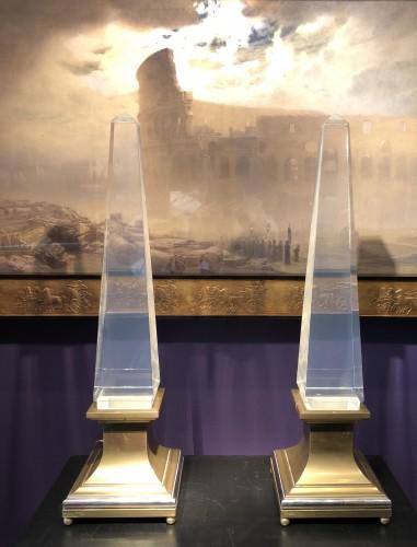 Decorative Objects  - Pair of design obelisks Maison Jansen .