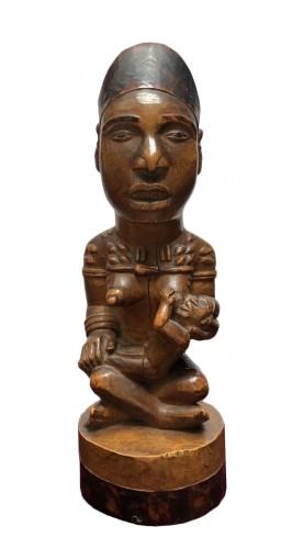 A fine Yombe maternity figure DRC