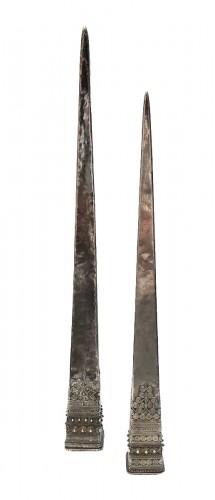Antique Hmong Silver Hairpins Laos