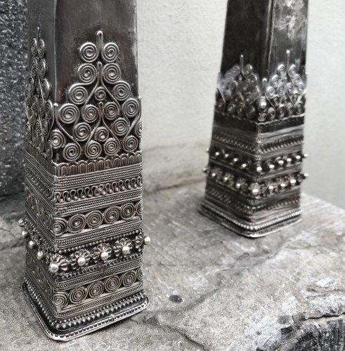 Antique Hmong Silver Hairpins Laos -