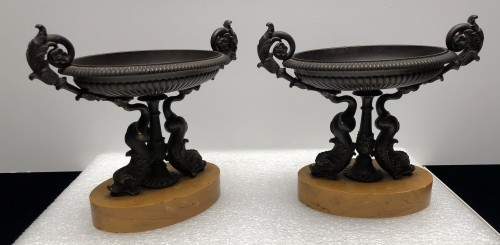 A Pair of Charles X bronze Tazza's - Decorative Objects Style Restauration - Charles X
