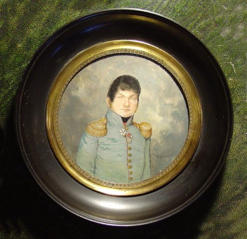 19th c. portrait miniature,f. Dumont