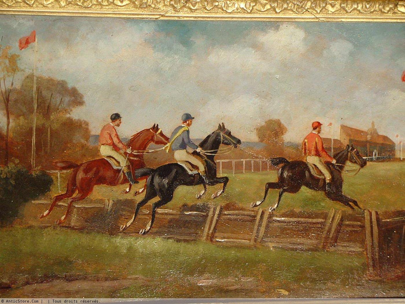 Horse S Racing Pair 19th Century England Ref 32139