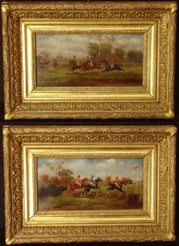 Pair of 19th century painting, england, horse's racing