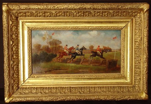 Paintings & Drawings  - Pair of 19th century painting, england, horse's racing