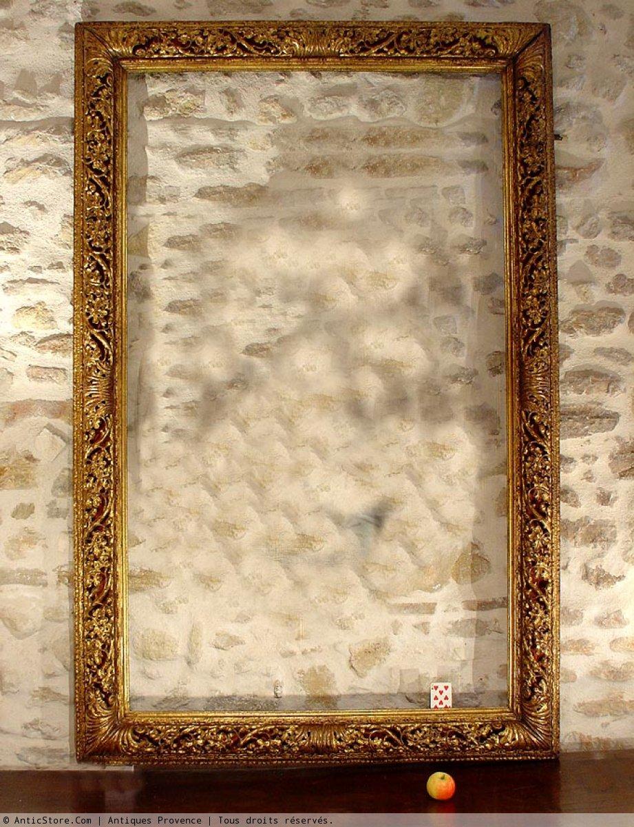 grand cadre dor sculpt xixe italie venise anticstore antiquit s 19 me si cle r. Black Bedroom Furniture Sets. Home Design Ideas