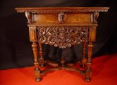 End of 16th c small french cerved table