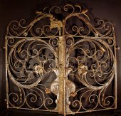 16th century french wrought iron gate