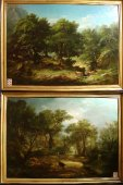 Pair of large 19th french  paintings of j.a.pelegry