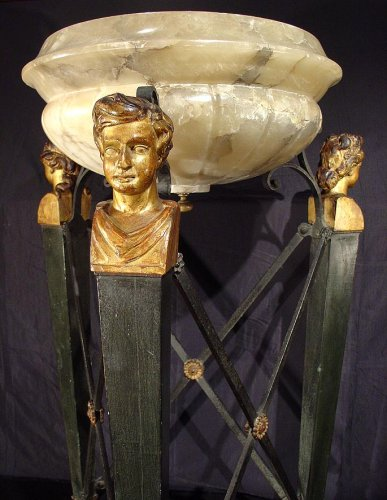 Decorative Objects  - A late18th century alabaster wine cooler