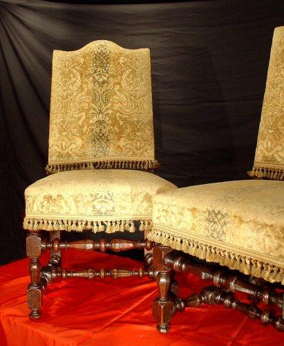 Four 17th century Louis XIV Chairs - Seating Style Louis XIV