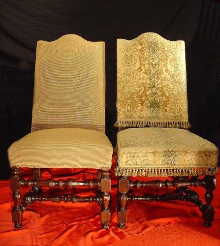 Louis XIV - Four 17th century Louis XIV Chairs
