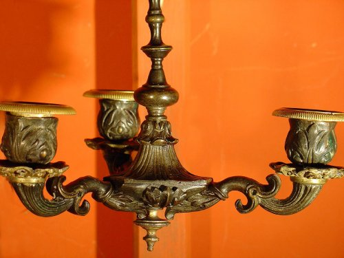 Restauration - Charles X - Pair of early 19th century bronze sconces