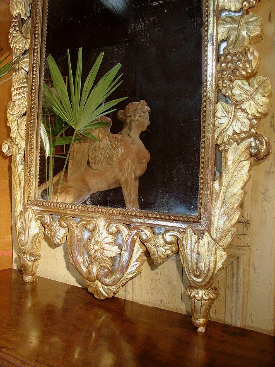 Grand miroir proven al fin xviiie si cle for Miroir xviii