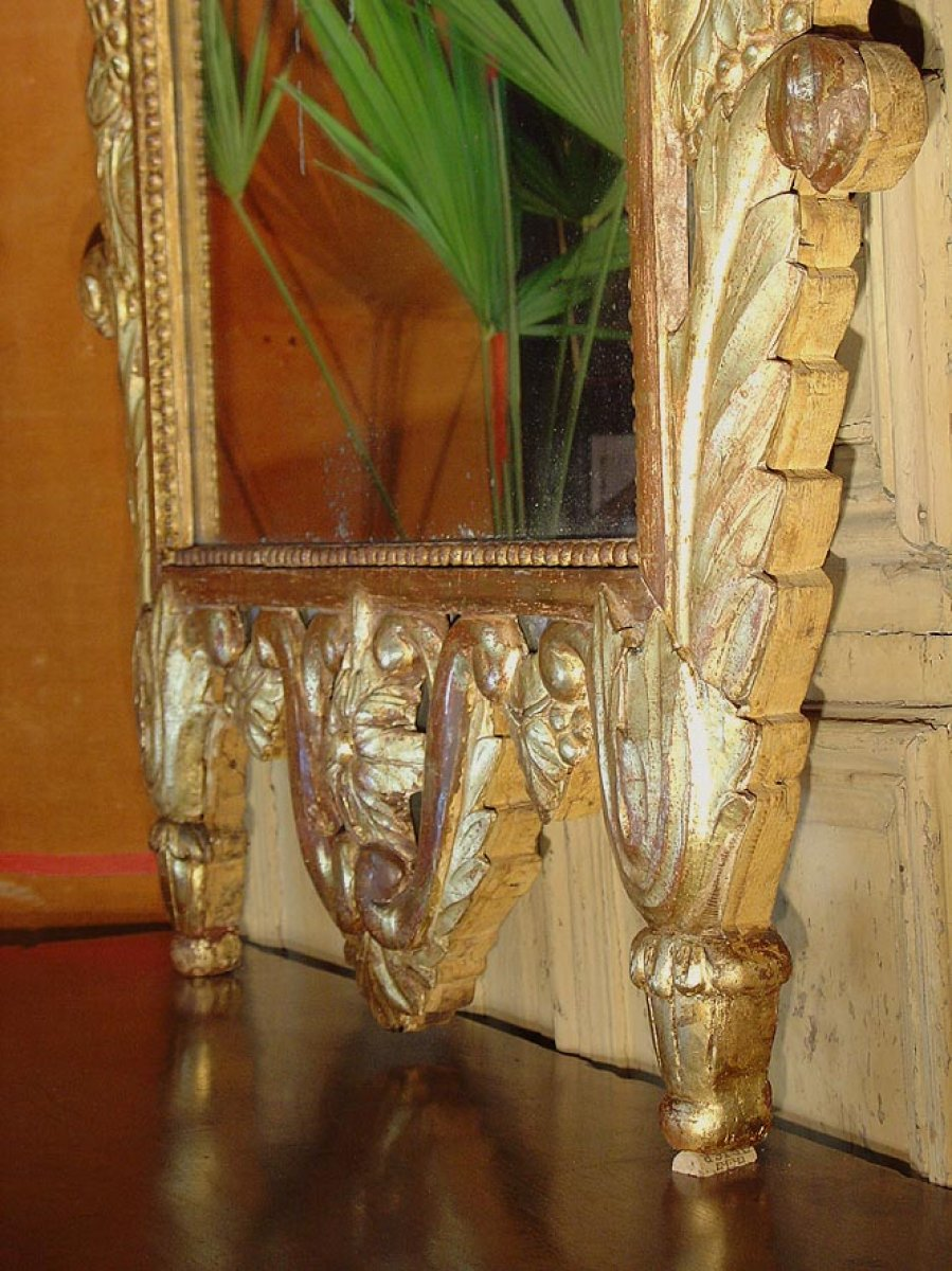 Grand miroir proven al fin xviiie si cle for Grand miroir antique