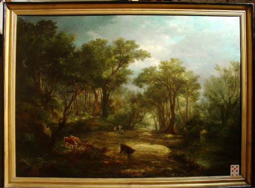Pair of 19th C.Romantic French Painting Signed A. Pélégry - Paintings & Drawings Style Napoléon III