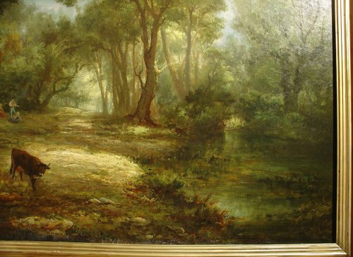 Paintings & Drawings  - Pair of 19th C.Romantic French Painting Signed A. Pélégry