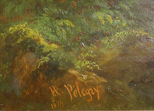 Pair of 19th C.Romantic French Painting Signed A. Pélégry -