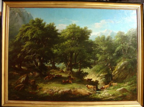 19th century - Pair of 19th C.Romantic French Painting Signed A. Pélégry