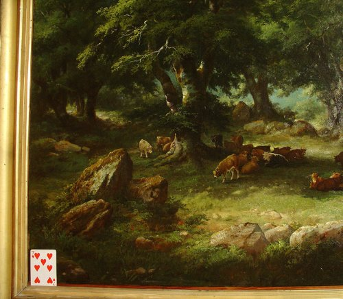 Antiquités - Pair of 19th C.Romantic French Painting Signed A. Pélégry