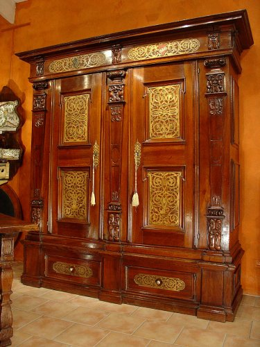 Early 17th C. armoire Germany