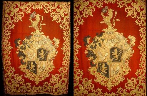 Pair of rare 17th C. Wal Hangings