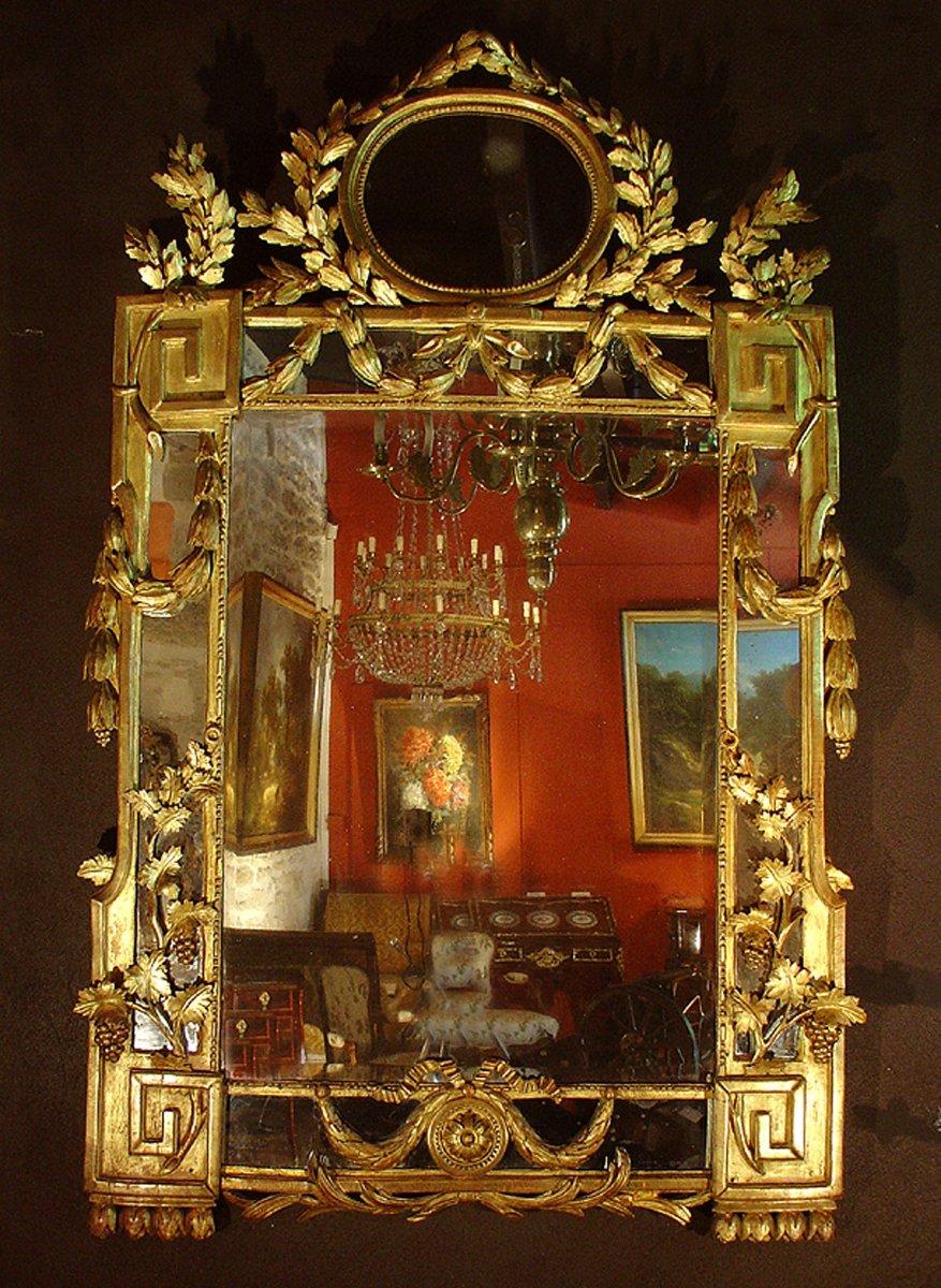 Grand miroir louis xvi fin xviiie si cle for Miroir xviii