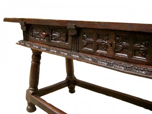 Grande table console XVIIe Espagne