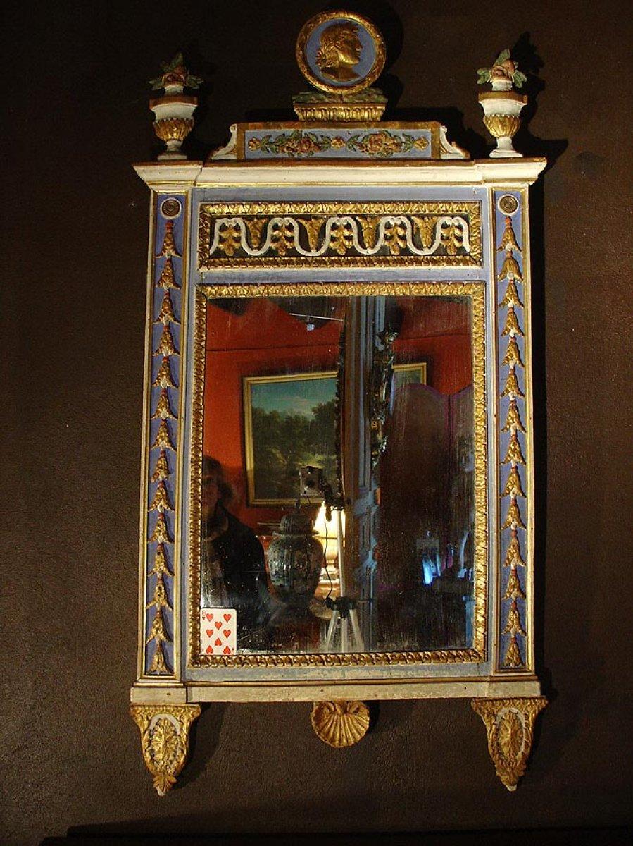 Miroir fin 18e en carton bouilli italie xviiie si cle for Miroir xviii