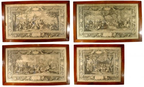 18 th C. Engravings by Picart and Charles Le Brun