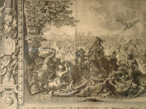 Antiquités - 18 th C. Engravings by Picart and Charles Le Brun