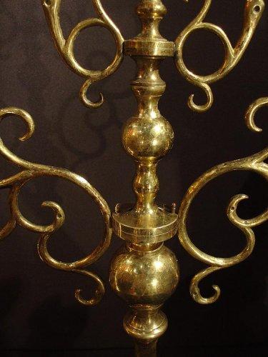 Napoléon III - Pair of 19th Jewish candelsticks