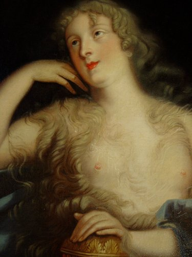Portrait of Countess Marie-Elisabeth de Ludres - 17th century  - Paintings & Drawings Style Louis XIV