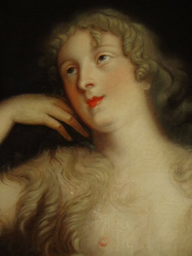Paintings & Drawings  - Portrait of Countess Marie-Elisabeth de Ludres - 17th century