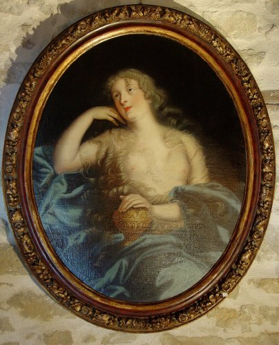 Antiquités - Portrait of Countess Marie-Elisabeth de Ludres - 17th century