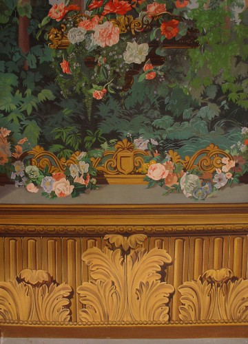 19th C French painting Panoramic  -