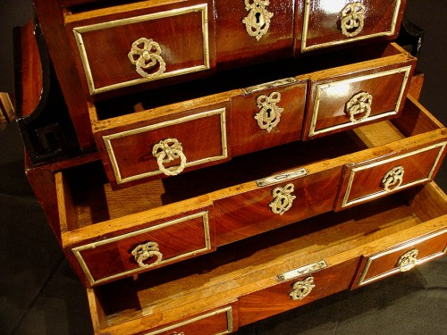 Antiquités - Small late 18th century  desk's cabinet