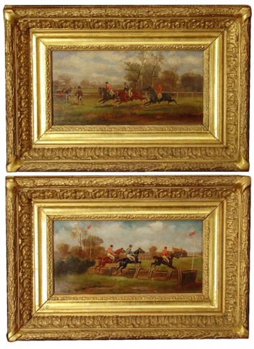 Pair of english Horses's paintings