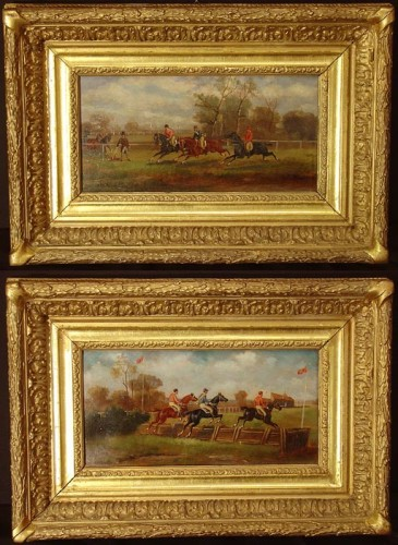 19th century - Pair of english Horses's paintings