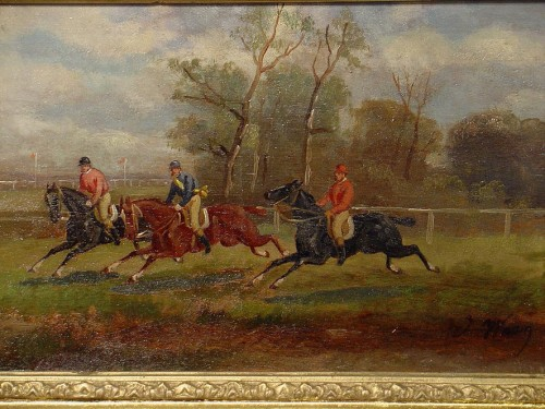 Pair of english Horses's paintings - Restauration - Charles X