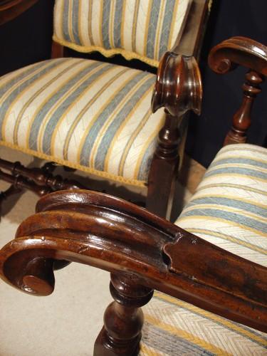 Seating  - Pair of 17th century Italian Armchair