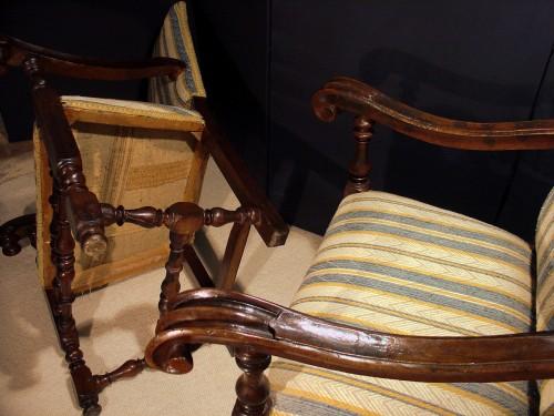 17th century - Pair of 17th century Italian Armchair