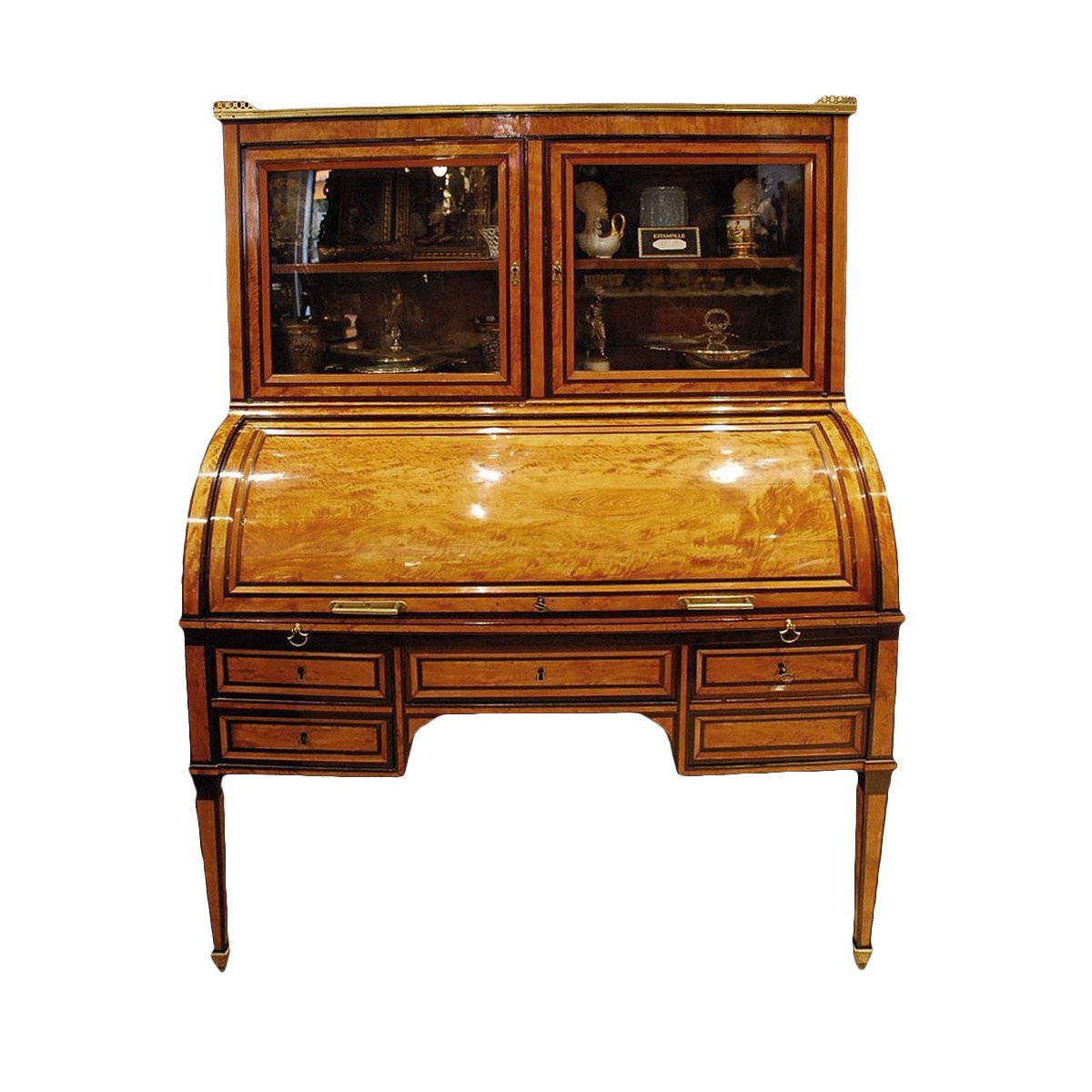 a louis xvi bureau a cylindre stamped etienne avril. Black Bedroom Furniture Sets. Home Design Ideas