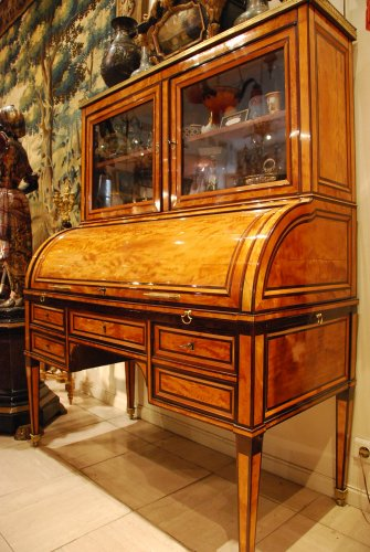 "Furniture  - A Louis XVI bureau ""a cylindre"" stamped etienne avril"
