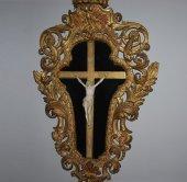Ivory Christ richly framed 18th