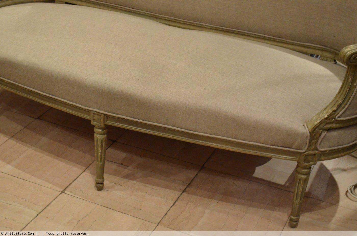 canap corbeille d 39 poque louis xvi xviiie si cle. Black Bedroom Furniture Sets. Home Design Ideas